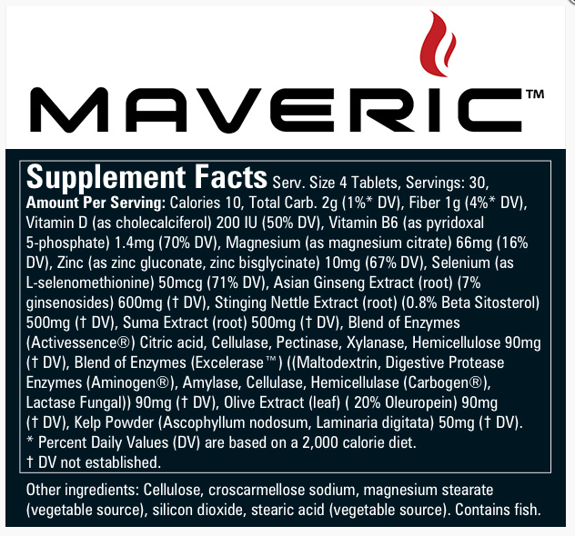 Maveric ingredienti